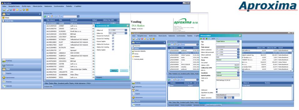 integrácia software Aproxima