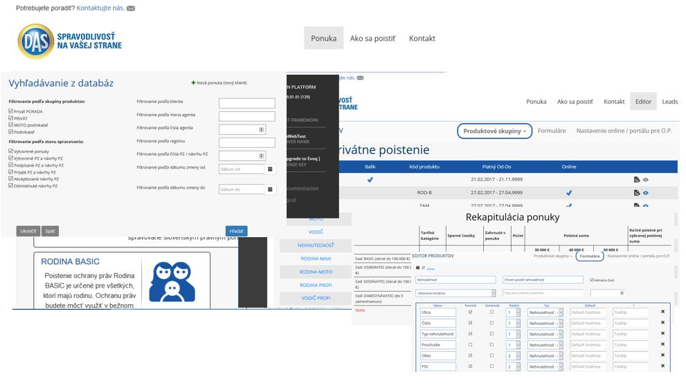 web aplikácie DAS